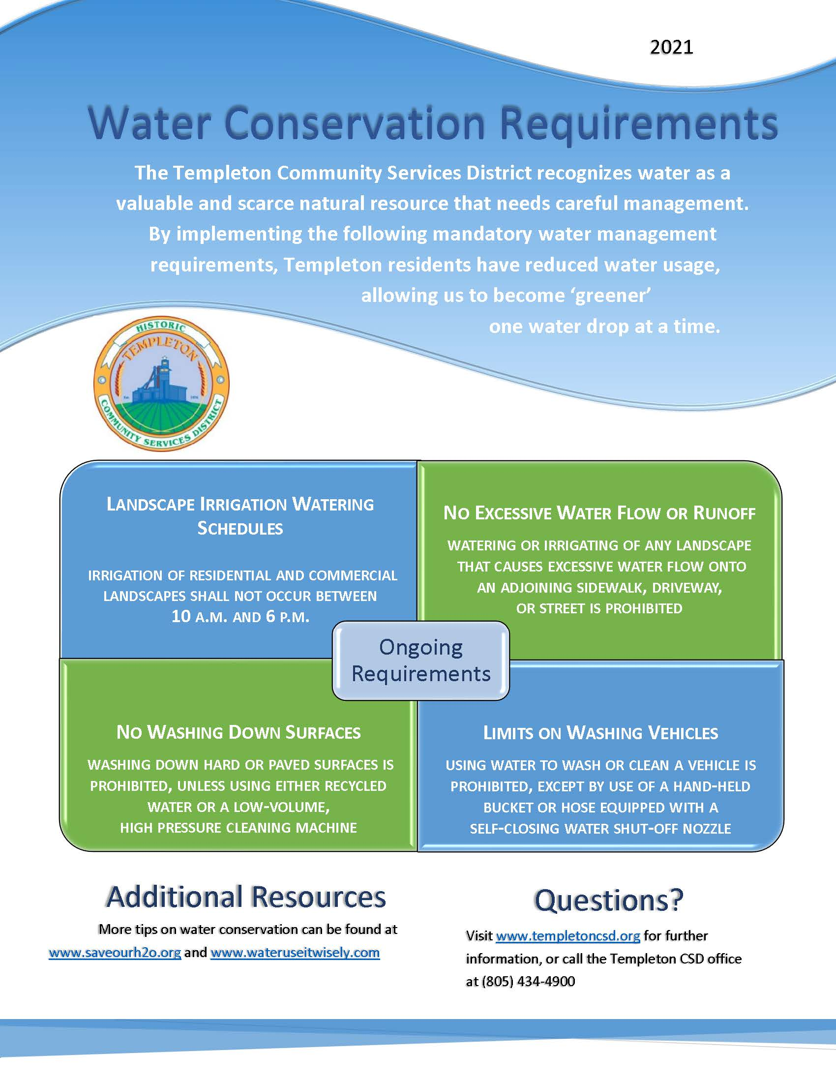 Conservation Requirements Flyer 2021